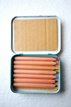 Pencil case from old Altoid tin. Cute present or party favor!