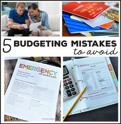 5 Budgeting Mistakes to Avoid - things that are sure to make a budget fail!