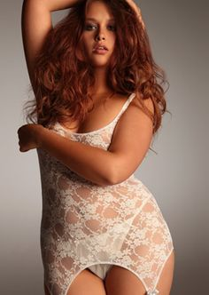 Shop sexy plus size lingerie and fall in love with exclusive styles only at Hips & Curves. From romantic to racy, buy plus size lingerie sizes L – Good Enough, Plus Zise, Hips And Curves, Modelos Plus Size, Glamour, Plus Size Beauty, Voluptuous Women, Plus Size Lingerie, White Lingerie
