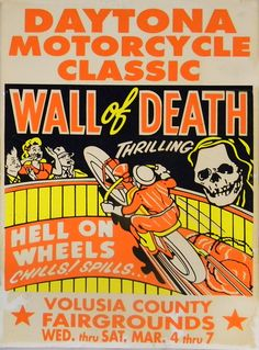 This is still a cool thing to watch! Daytona Motorcycle Classic - Wall of Death - Hell On Wheels