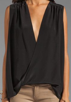 JAY GODFREY Aldridge Blouse in Black at Revolve Clothing