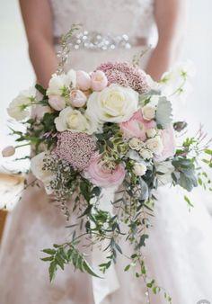Pink garden/bohemian bouquet.
