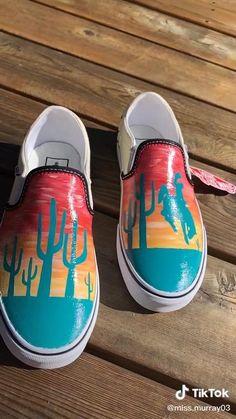 Vans Canvas Shoes, Painted Canvas Shoes, Custom Painted Shoes, Painted Vans, Hand Painted Shoes, How To Paint Shoes, Disney Painted Shoes, Thread Wallets, Custom Vans Shoes