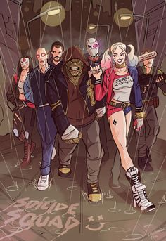 HeroChan — Suicide Squad Created by Johnny Lighthands Dc Comics Art, Marvel Dc Comics, Comic Manga, Comic Art, Manga Anime, Jared Leto, Suiside Squad, Harley Queen, Hearly Quinn