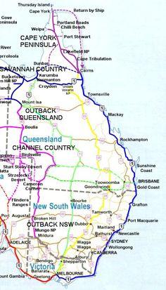 East Coast Australia Map
