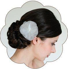 "Braut Haarblüte ""Amanda"" aus feinster Seiden-Organza. Silk Flower Headpiece, Hairaccessoires wedding."