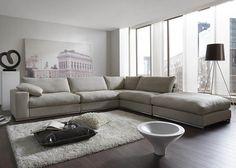 Hoekbank River met hocker. Heerlijke lounge bank welke een landelijk uiterlijk combineert met een strak design.
