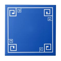 "Greek Style Small (4.25"" x 4.25"") Ceramic Tile"
