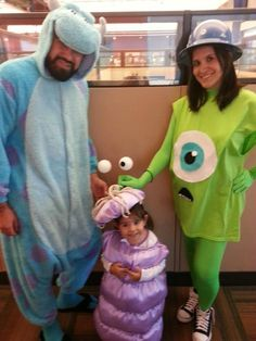 Monsters Inc. costumes - I can only imagine Joe's reaction when I tell him I want him to wear footie pajamas