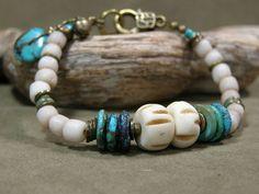 Turquoise Bracelet  Tribal Bracelet  Native by StoneWearDesigns