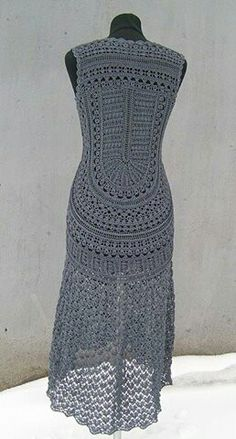 Crochét grey dress