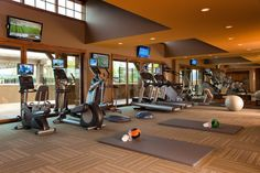 Private fitness center.