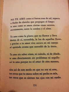 Soneto XVII. Cien sonetos de amor. Pablo Neruda. | lightbox.… | Victor Ruiz | Flickr