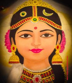 50 Most Beautiful Face Rangoli Design (ideas) that you can make during any occasion on the living room or courtyard floors. Rangoli Side Designs, Easy Rangoli Designs Diwali, Rangoli Designs Latest, Simple Rangoli Designs Images, Free Hand Rangoli Design, Rangoli Ideas, Colorful Rangoli Designs, Lotus Rangoli, Flower Rangoli
