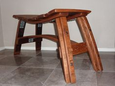 Wine Barrel Stave Bench by TCBarrelWorks on Etsy, $425.00