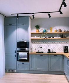 Ikea Kitchen Design, Rustic Kitchen Design, Home Decor Kitchen, Kitchen Interior, Home Kitchens, Taupe Kitchen, Cute Diy Room Decor, Living Room Partition Design, House Essentials