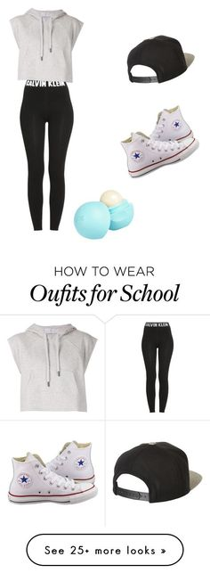 """going to school"" by arionnaparto on Polyvore featuring Calvin Klein, adidas…"