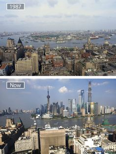 How China put Shanghai on the world map - Architecture and Urban Living - Modern and Historical Buildings - City Planning - Travel Photography Destinations - Amazing Beautiful Places Then And Now Pictures, Before And After Pictures, Old Pictures, Beautiful Landscape Photography, Beautiful Landscapes, World Cities, City Architecture, Aerial View, Shanghai
