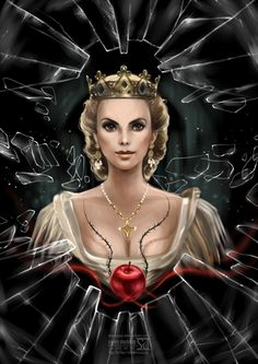 On the picture Charlize Theron as Evil Queen Ravenna..Snow White and Huntsman