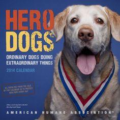 Hero Dogs 2014 Wall Calendar - http://www.thepuppy.org/hero-dogs-2014-wall-calendar/