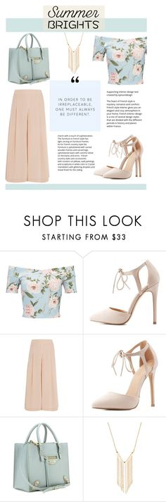 """""""Summer Brights"""" by zaycelik ❤ liked on Polyvore featuring Miss Selfridge, Charlotte Russe, TIBI, Balenciaga and Gemelli"""