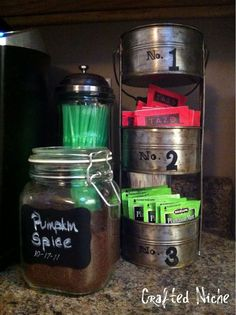3 Tiered tower for storing my tea and sweetener