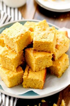 the BEST moist, tender homemade Sweet Cornbread with just the right amount of sweetness. You will fall in love at first slice and won't be able to stop! Buttermilk Cornbread, Sweet Cornbread, New Recipes, Baking Recipes, Favorite Recipes, Gumbo Recipes, Flour Recipes, Holiday Recipes, Dinner Recipes