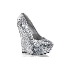 Pleaser Day Night Luster 20 (Silver) ($4.31) ❤ liked on Polyvore featuring shoes