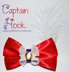 Captain Hook Hair Bow by MickeyWaffles on Etsy https://www.etsy.com/listing/107963530/captain-hook-hair-bow