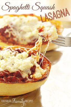 I don't know if I will ever go back to regular lasagna again. I already love spaghetti squash but this lasagna recipe took it to a whole new level.