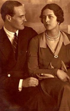 Princess Cecilie of Greece known as Cecile, pictured in an engagement photograph with her fiance, the Hereditary Grand Duke Georg Donatus of Hesse by Rhine. Cecile was a sister of Prince Philip, Duke of Edinburgh. Queen Victoria Family, Princess Victoria, German Royal Family, Greek Royalty, Grand Duc, Prince Phillip, Prince Andrew, Princess Alice, Cecile