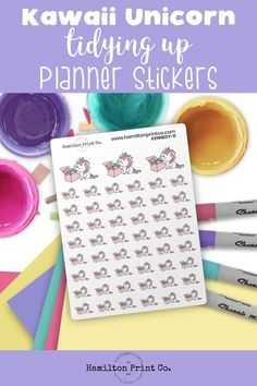 Kawaii unicorn planner stickers to remind you to tidy up your house occasionally. Printed on the finest matte paper known to mankind, and delivery available worldwide. Cute Rainbow Unicorn, Kawaii Planner, Kawaii Halloween, Unicorn Stickers, Planner Supplies, Tidy Up, Small Shops, Bullet Journals, Erin Condren