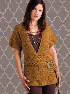 Ravelry: Angles & Lines Top pattern by Rebecca Velasquez Crochet Coaster Pattern, Crochet Vest Pattern, Crochet Wool, Crochet Blouse, Top Pattern, Crochet Sweaters, Tunisian Crochet, Free Crochet, Knitting Patterns