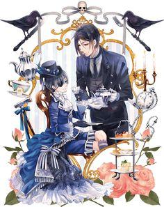 ciel phantomhive and sebastian michaelis Butler Anime, Book Of Circus, Ciel, Sebastian X Ciel, Kuroshitsuji, Art, Anime, Butler, Cartoon
