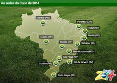 AS sedes brasileiras da copa do mundo de 2014