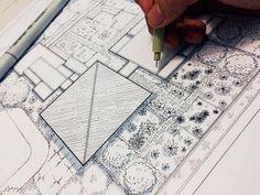 Lihat kebunku penuh dengan bunga  #arch_more #archisketcher #arch_sketch #arqsketch #monochrome #blackandwhite #blockplan #siteplan #architecture #drawing #art #design #vegetation #manualrendering by gian_psiswono