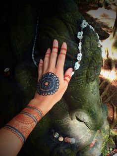 Visit Ganesha & The Sacred Forest at the Kauai Hindu Monastery in Wailua.  Henna & Jagua body art by Catana. kauaihenna.com