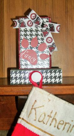Alabama Crimson Tide  Dog Stocking Holder by ElegantlyCentered