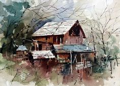 Carl Purcell  the Strate barn near Spring City