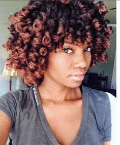 Follow This Glamorous Perm Rod Set Curls for a stunning style on medium to long length natural hair.