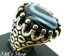 Men's Ring Turkish Ottoman Style Silver Ring by IdilsShop