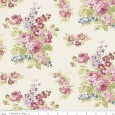 """""""Anne of Green Gables"""" Anne Floral Cream by RBD Designers for Penny Rose Fabrics"""