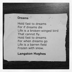 Dreams by Langston Hughes