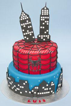 torta hombre araña - Buscar con Google
