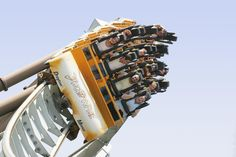 Shockwave at Drayton Manor. Europe's first stand up rollercoaster!