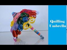How to make Miniature Quilling Umbrella, Tutorial, DIY. Buy all items used in making paper quilling umbrella (given below): . Paper Beads, Paper Quilling, How To Make Paper, Floral Bouquets, Diy Tutorial, Miniatures, Crafts, Painting, Color