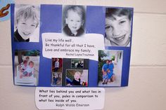 Mission statements can include pictures of those that are important to the individual, as well as a quote.
