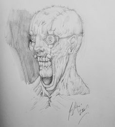 A more rendered version of the sketch from the other day. I have a feeling that I'll be revisiting this one again soon. #Art #Horror #Face #Torture #Stretch #Artist #Drawing #Illustration #DailyArt #InstaDraw #InstaArt #InstaArtist #InstaGood #WorldofArtists #RochesterArtist #Pencil #Sketch #Doodle #Practice #WIP #Portrait #Scary #Disturbing #Monster