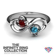 #NEW. #infinity. #DuoHearts. #ring. #JewlrCom. #Jewlr2Win.