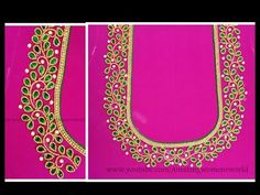Source by aswathyp work Cutwork Blouse Designs, Wedding Saree Blouse Designs, Simple Blouse Designs, Blouse Neck Designs, Mirror Work Blouse Design, Simple Embroidery Designs, Hand Work Design, Maggam Work Designs, Hand Designs